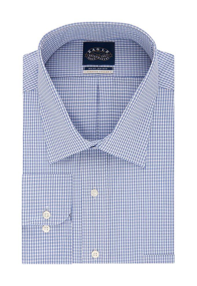 ae00619d Big Non Iron Flex Collar Check Dress Shirt | styleBureau