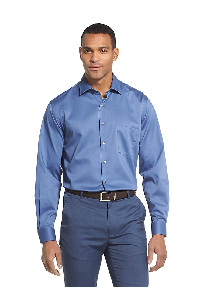 d53d9d626b44 Regular Wrinkle-Free Stretch Flex Dress Shirt | Van Heusen