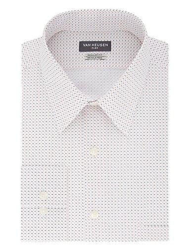 0138061f Regular Flex Wrinkle Free Printed Dress Shirt