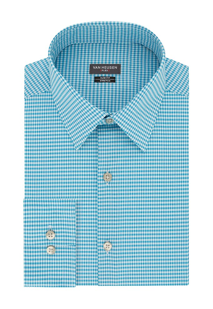 7446801207f4 Slim Flex Wrinkle Free Stretch Check Dress Shirt | Van Heusen