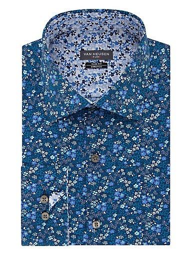 f4b0bf5b9008 Slim Flex Wrinkle Free Stretch Floral Dress Shirt