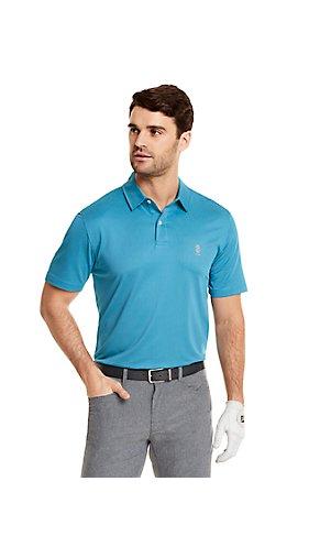 IZOD Golf Gingham Short Sleeve Polo
