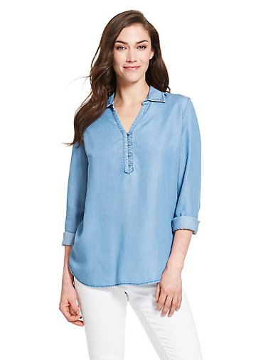 3d79d4695939 Chambray Popover Shirt