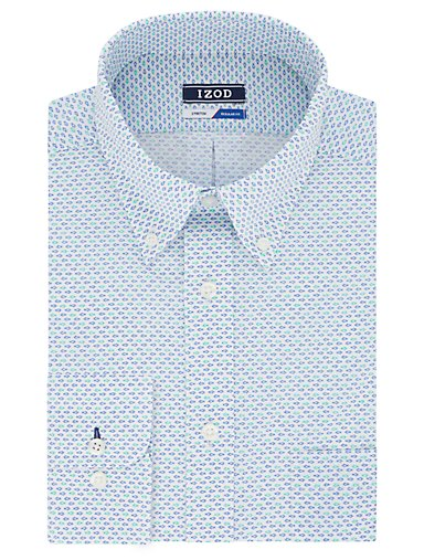 e473af56 Regular Wrinkle Free Stretch Printed Button-Down Dress Shirt