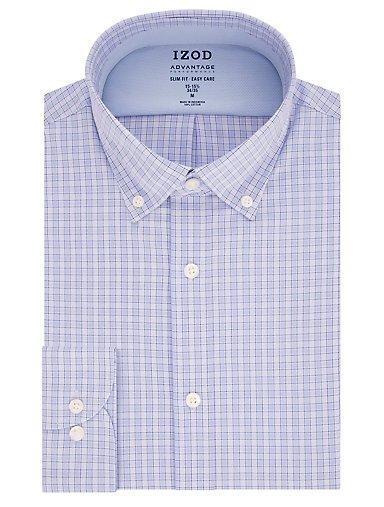 34fd5bbd Slim Advantage Performance Wrinkle Free Stretch Check Button-Down Dress  Shirt