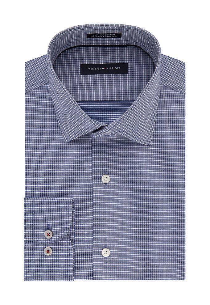 d5b4e0ffc Slim Non Iron Stretch Check Dress Shirt | styleBureau