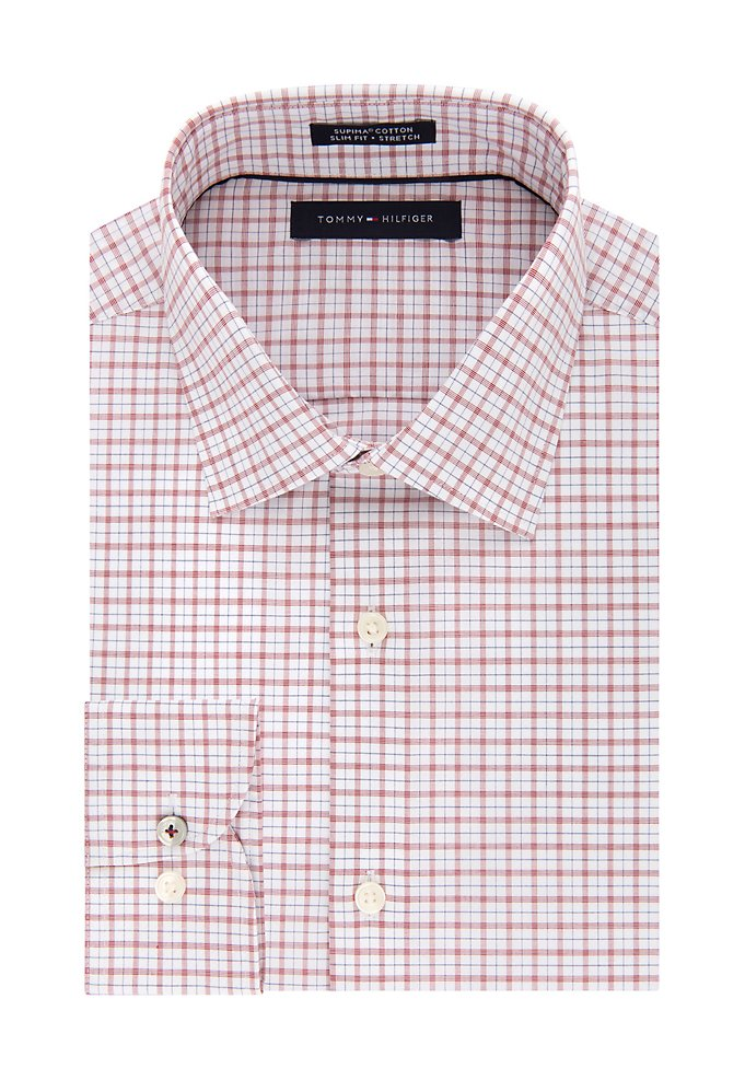 de3295fd Slim Non Iron Stretch Check Dress Shirt   styleBureau