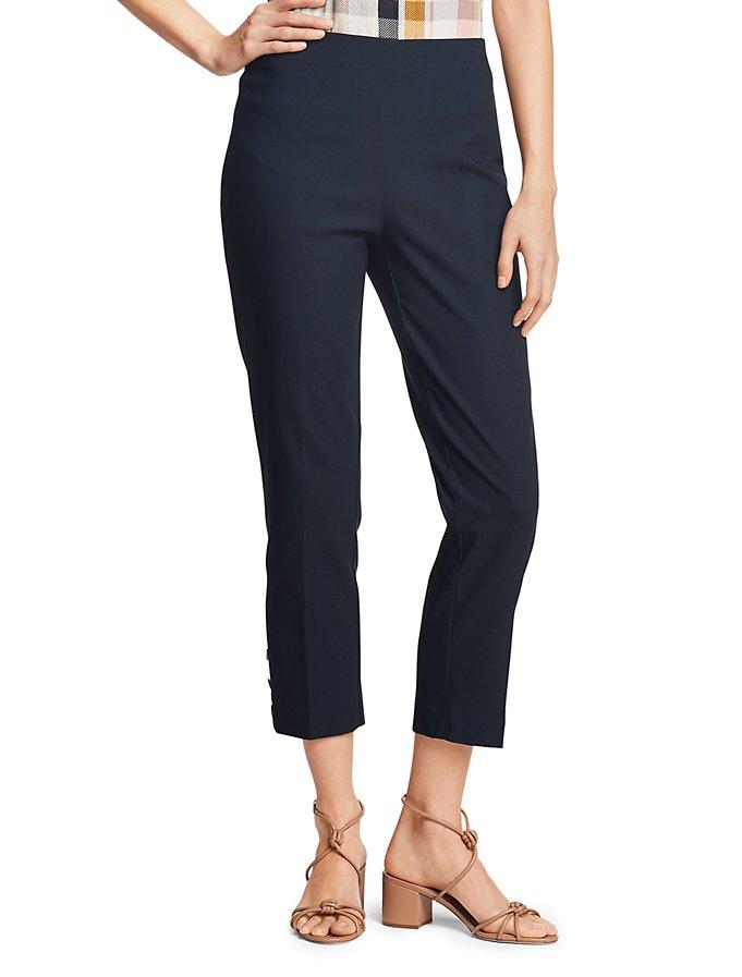 Van Heusen Super Stretch Button Trim Crop Pants