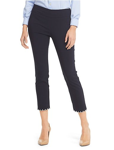72ef9f5b0a304e Slim Fit Super Stretch Scalloped Pull-On Cropped Pant