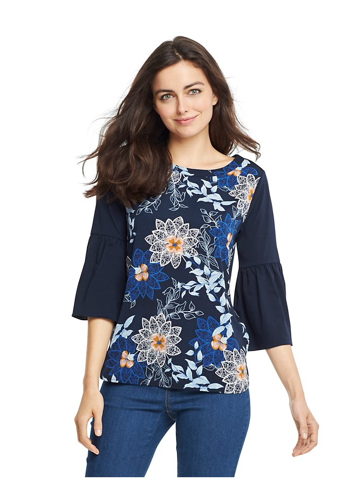 e2fe02bcb65 Sale Floral Bell-Sleeve Top