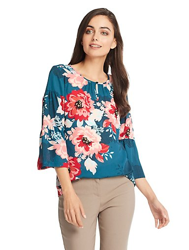 d53c6252619e5e Floral Tiered Ruffle Sleeve Top. Sale