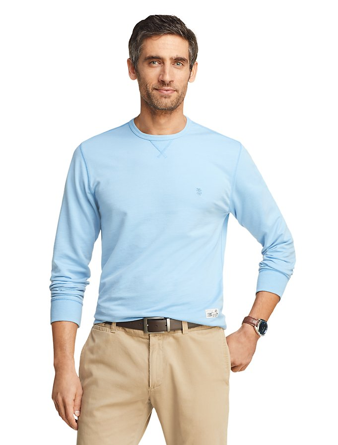 IZOD Saltwater Slim Fit Terry Crewneck Sweatshirt