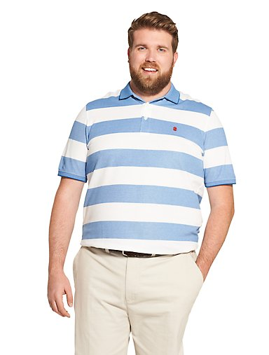 71dc8473c Big Fit Advantage Performance Striped Polo Shirt