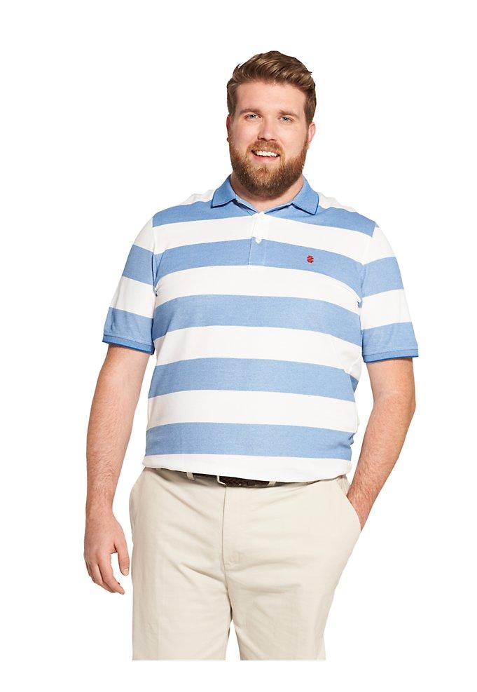 36907c9b Big Fit Advantage Performance Striped Polo Shirt | IZOD