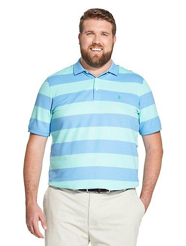 a81aecda9cee Tall Fit Advantage Performance Striped Polo Shirt