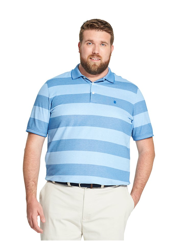 f1770620f6ffb Tall Fit Advantage Performance Striped Polo Shirt