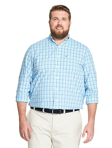 55311f737 Tall Fit Premium Essentials Plaid Button-Down Shirt