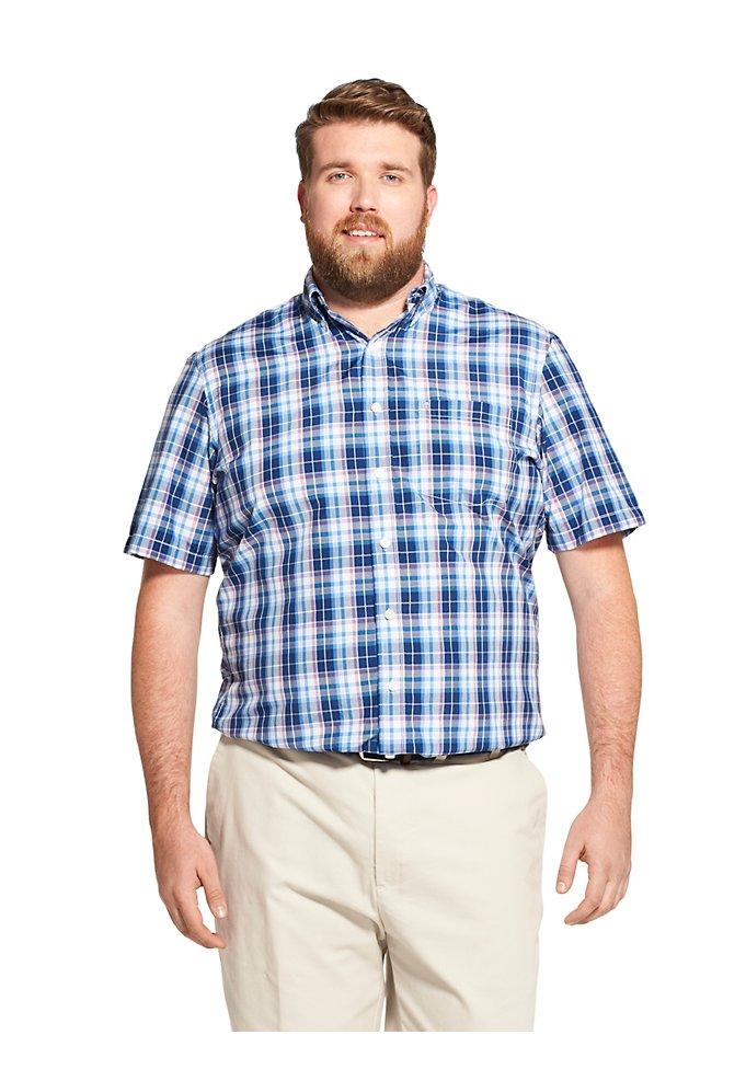 c83a6e31f16 Big Fit Breeze Plaid Short-Sleeve Button-Down Shirt