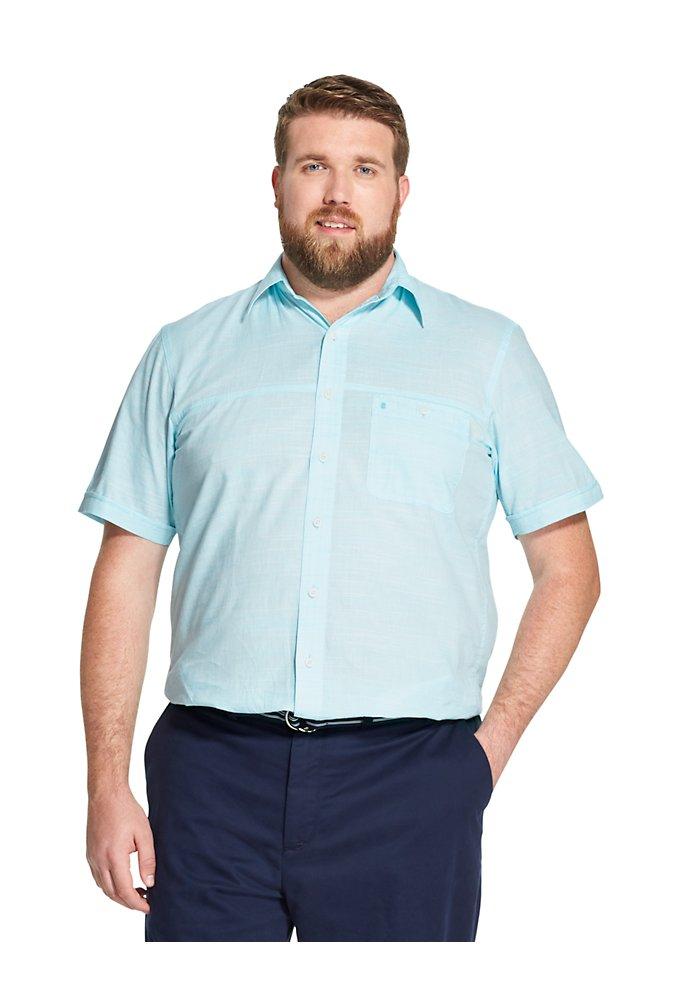 7cf4fdd0 Big Fit Saltwater Dockside Chambray Short-Sleeve Shirt | IZOD