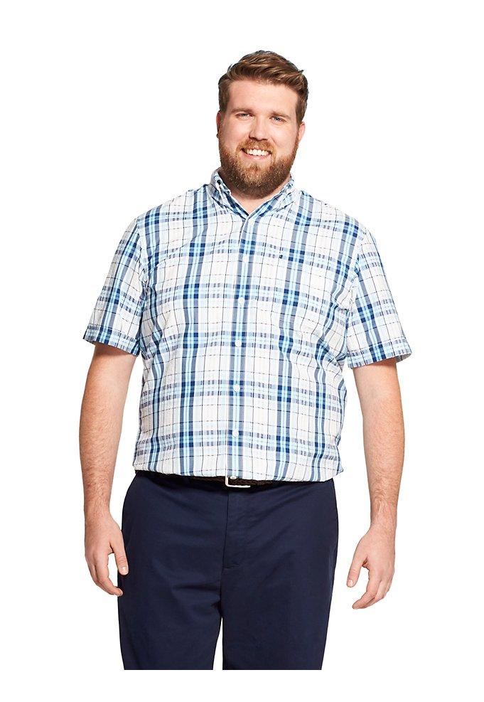 fe27712436d Tall Fit Breeze Plaid Short-Sleeve Button-Down Shirt