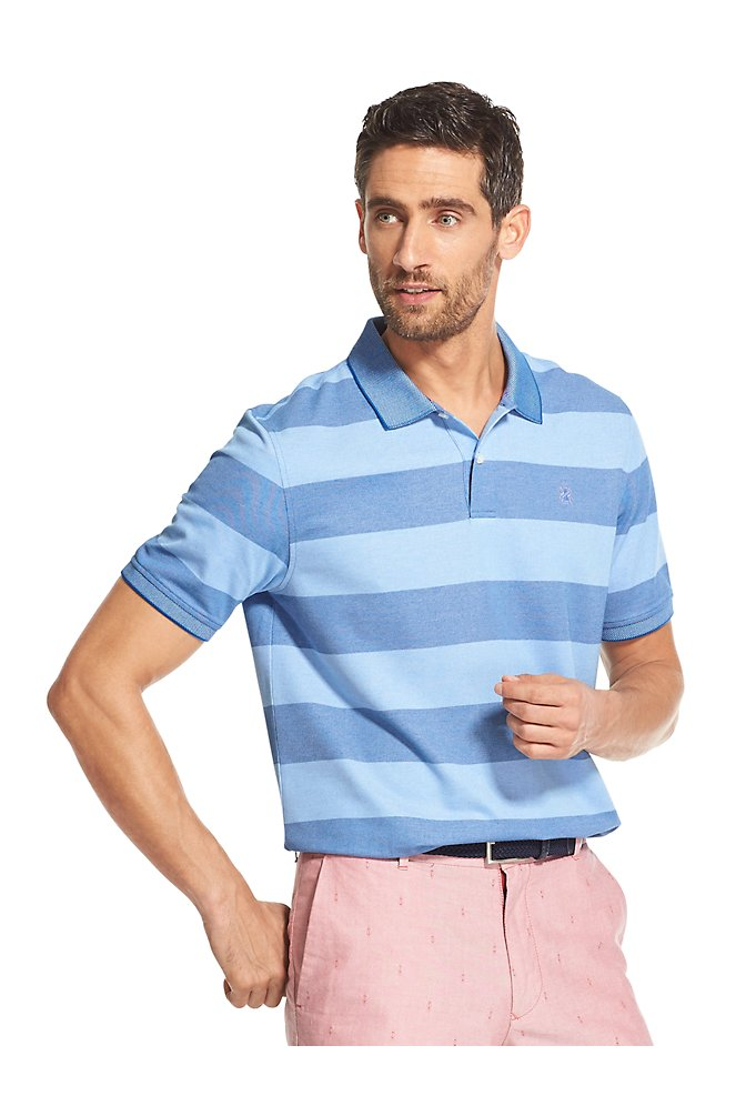 717edef9 Advantage Performance Striped Polo Shirt | IZOD