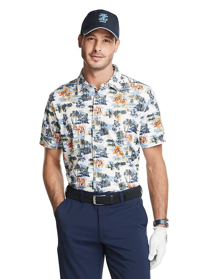 IZOD Golf Z-Series Printed Short Sleeve Shirt