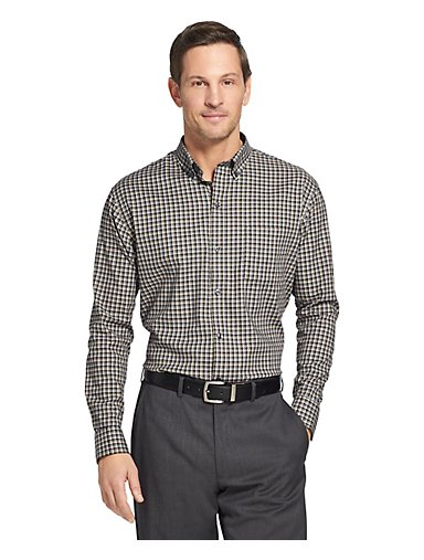 a826e5bf0885e Flex Stretch Non-Iron Check Button-Down Shirt. Sale. SHARK GREY  WATERDROP. Van  Heusen