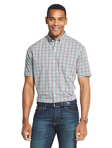 4466983fa Flex Non-Iron Plaid Short Sleeve Shirt