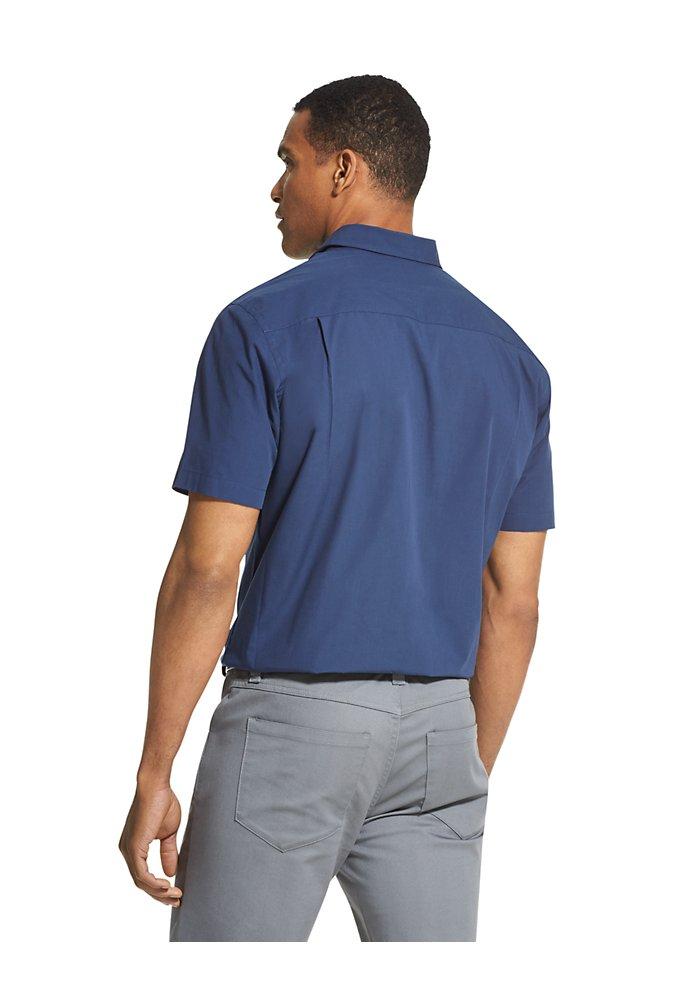 27c3c02e9d694 Air Striped Textured Short Sleeve Shirt