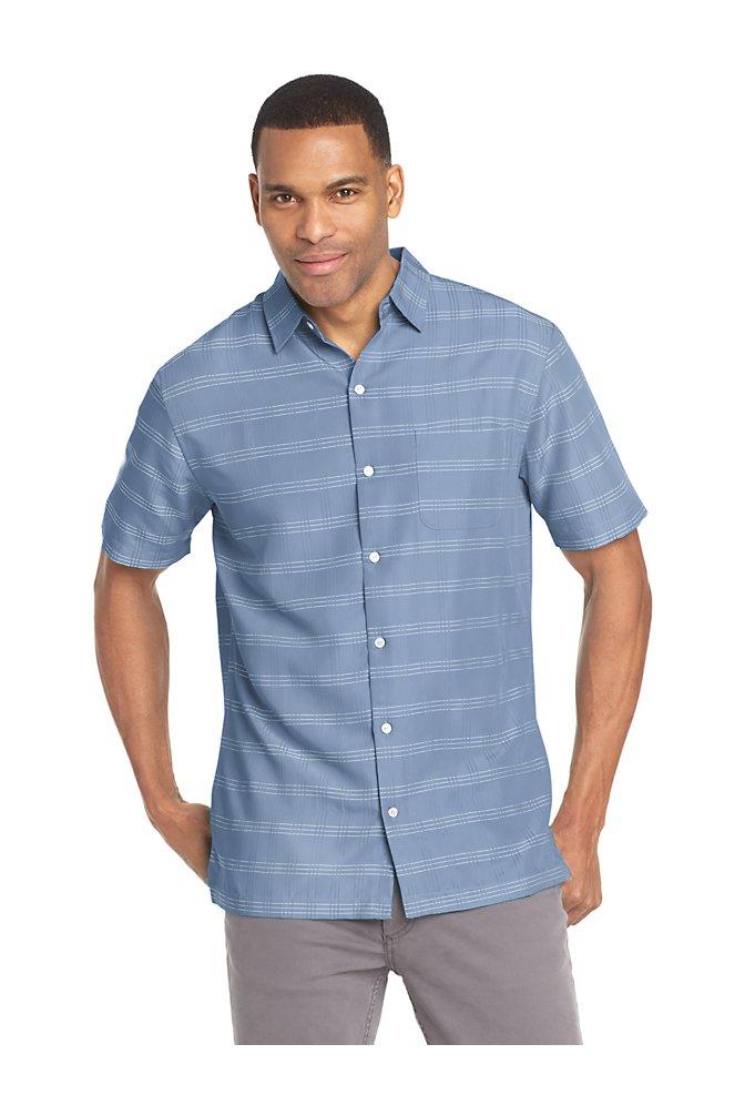 eb73d9c2c01 Poly Rayon Short Sleeve Shirt