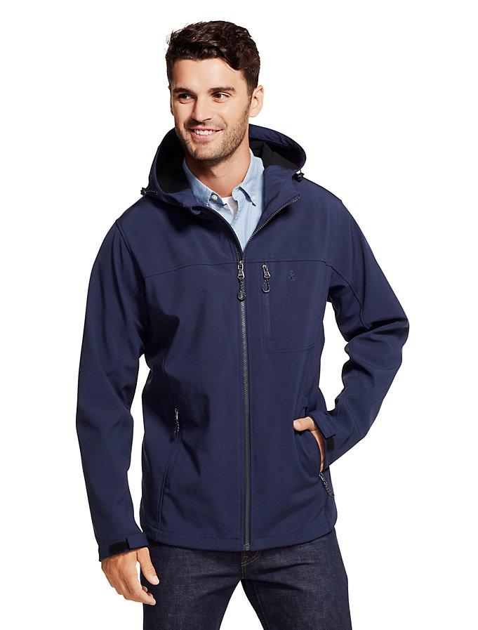 IZOD Regular Fit Zipper Front Layered Coat