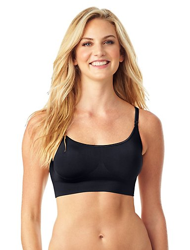 3330642a1b2cc Easy Does It™ No Dig Wire-Free Convertible Bra. BLACK. Warner s