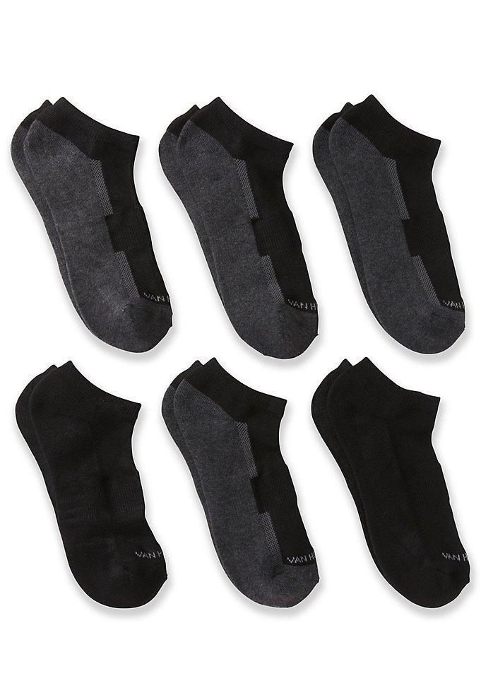 0faf35c7 Performance Low-Cut Socks 6-Pack | Van Heusen